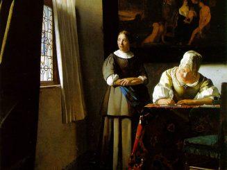 גברת כותבת מכתב